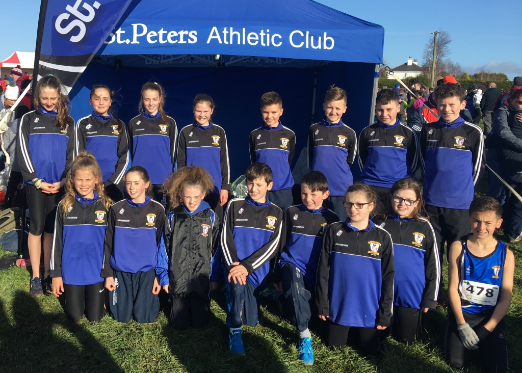 St Peter's AC athletes at Leinster Cross Country Championships (Adamstown, November 2017)