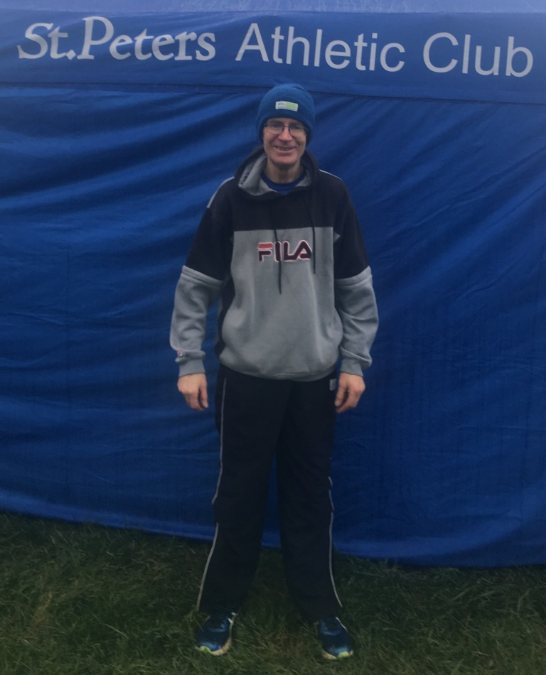 Andrew Rogers at Louth Masters' Cross Country Championships (Togher, December 2017)