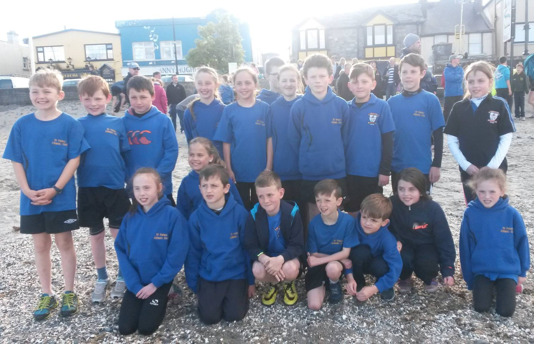 St Peter's AC athletes at Blackrock AC Beach Races (Blackrock, May 2015)