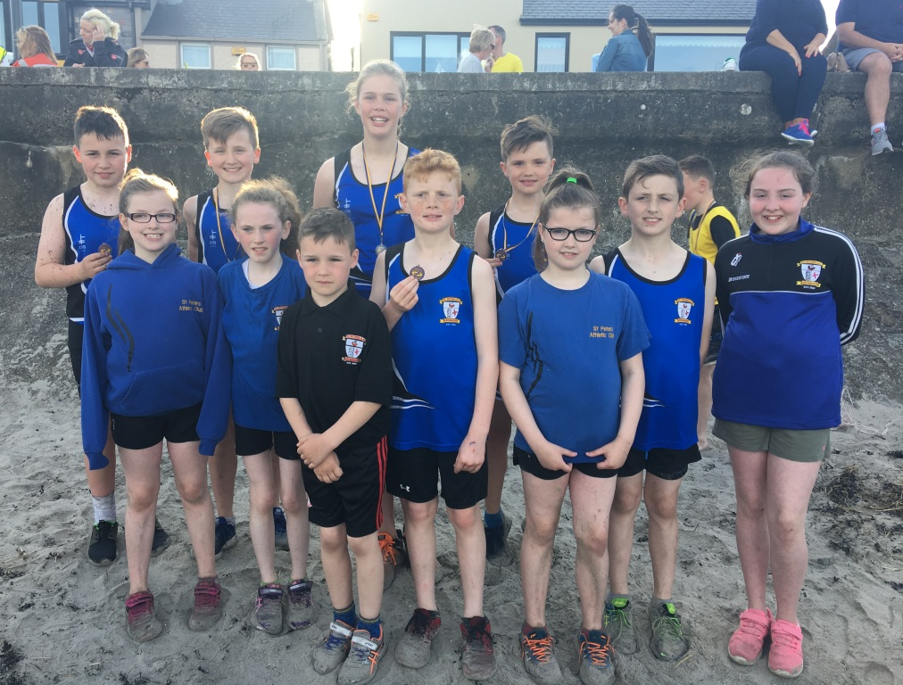 St Peter's AC athletes at Blackrock AC Beach Races (Blackrock, May 2017)