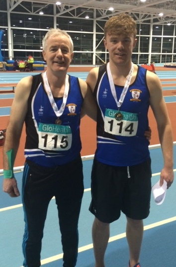 Brendan Rogers and Mark Rogers at Irish Indoor Combined Events' Championships (Athlone, January 2016)