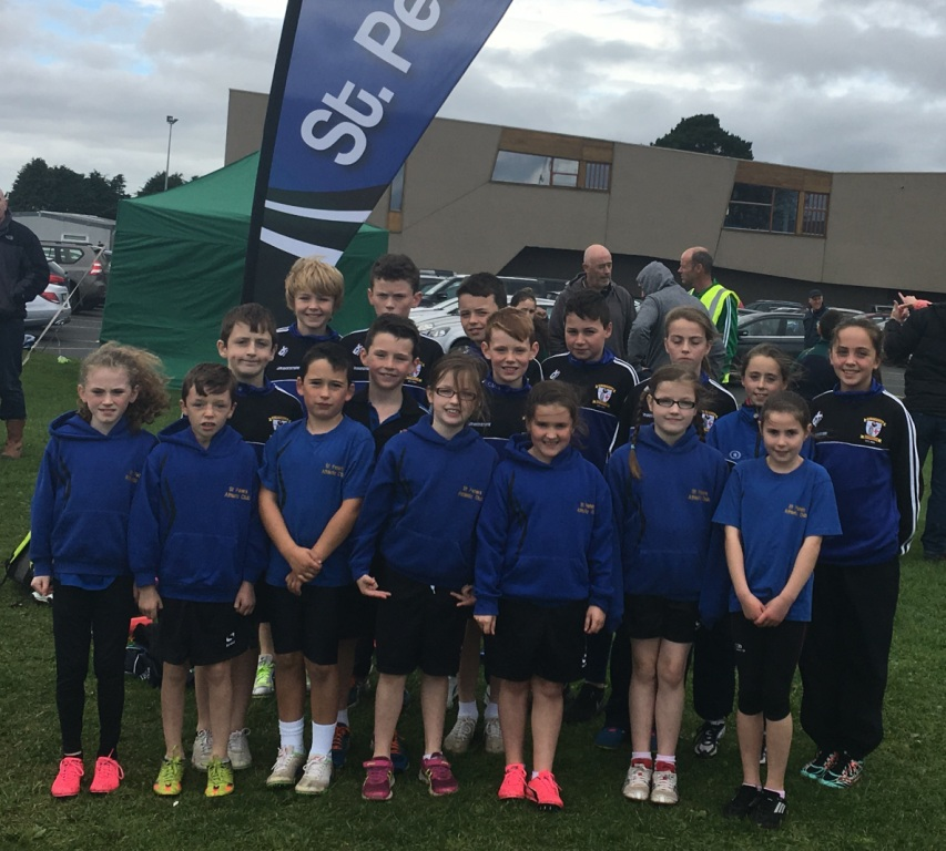 St Peter's AC athletes at Glenmore AC Juvenile Cross Country (Bush, October 2016)