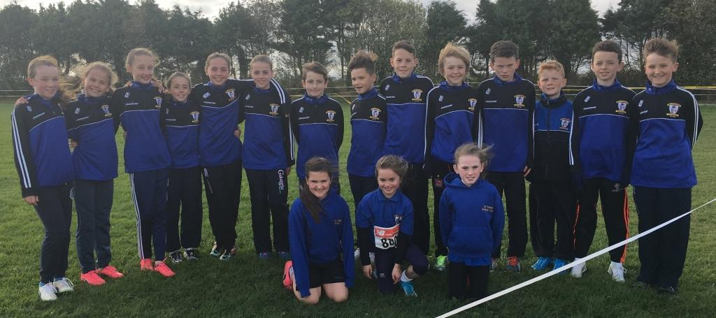 St Peter's AC athletes at Louth Cross Country Championships (Bush, October 2016)