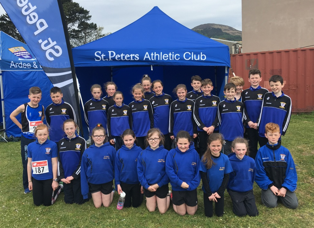 St Peter's AC athletes at Louth Juvenile Championships (Bush, May 2017)