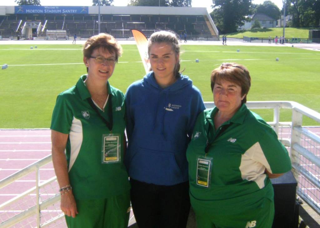 Angela McDonald, Lauren Finegan and Kathleen McConnell at Celtic Games (Santry, August 2014)