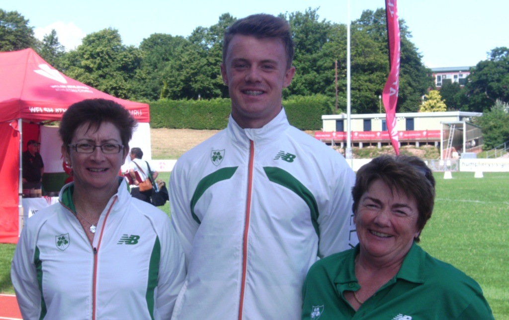 Angela McDonald, Mark Rogers and Kathleen McConnell at Celtic Games (Colwyn Bay, August 2013)