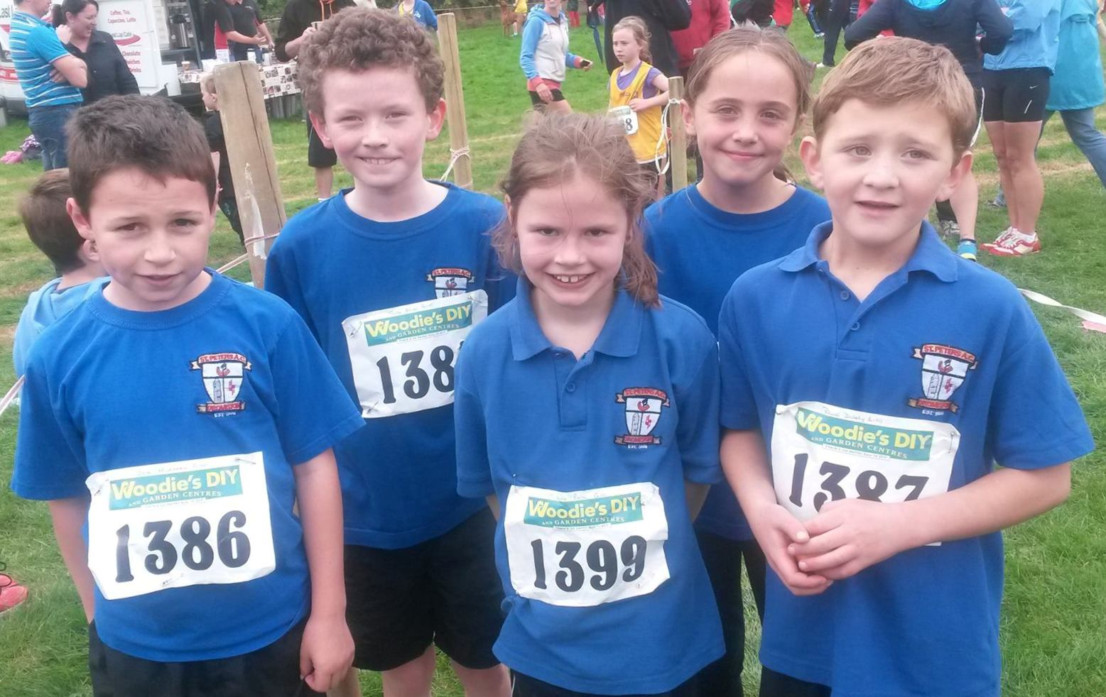 St Peter's AC athletes at Louth Cross Country Championships (Drogheda, October 2013)