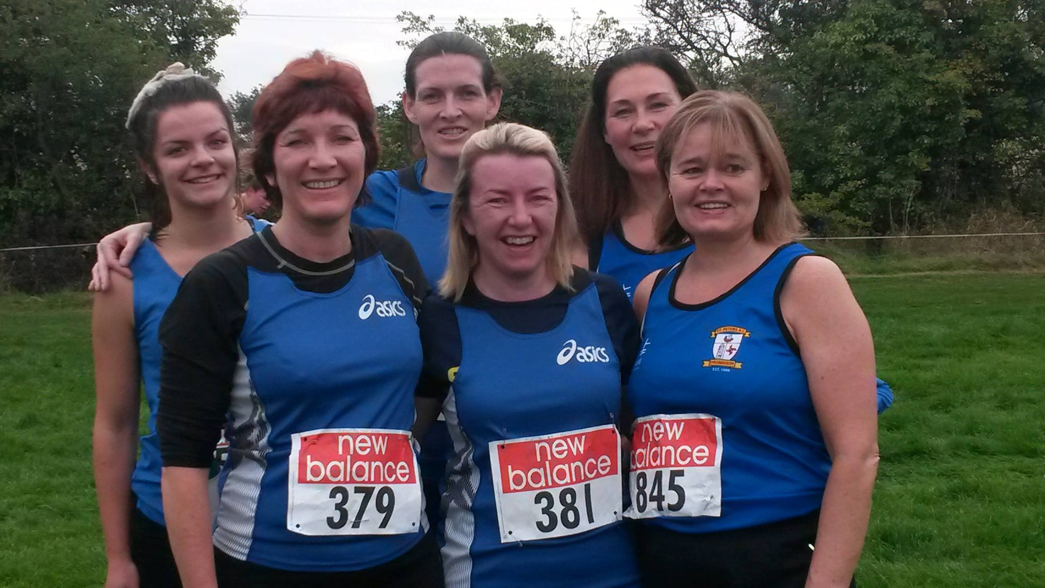 Novice Women's team at Louth Cross Country Championships (Drogheda, October 2015)
