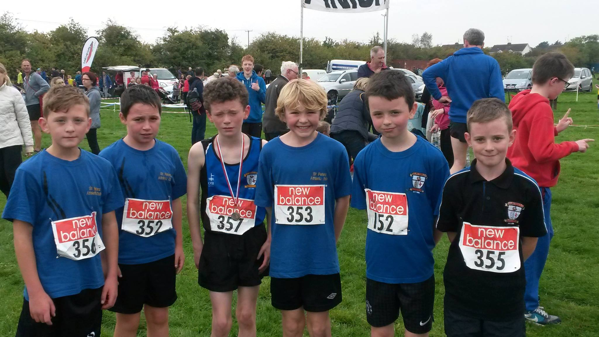 U11 Boys' team at Louth Cross Country Championships (Drogheda, October 2015)