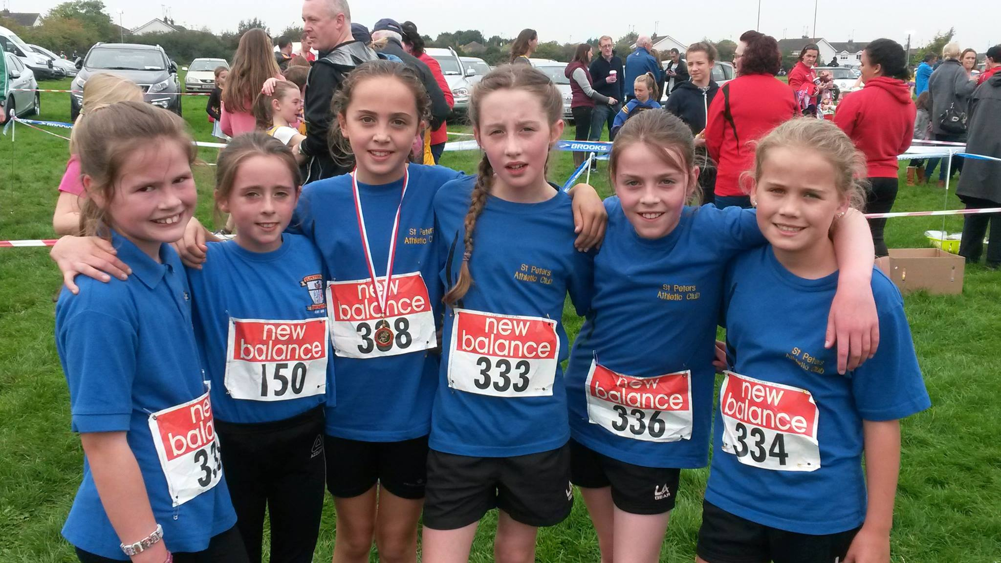 U11 Girls' team at Louth Cross Country Championships (Drogheda, October 2015)