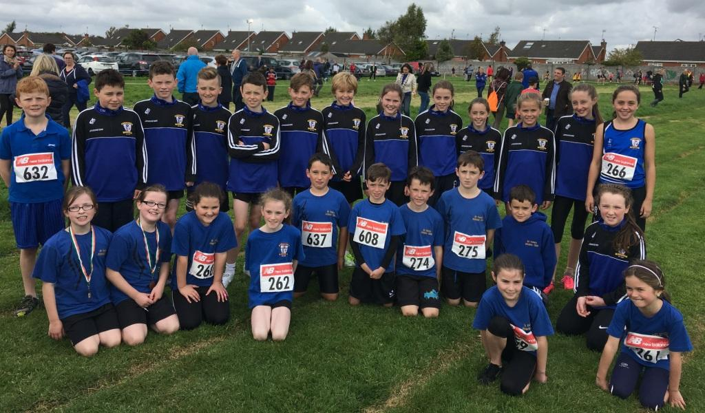 St Peter's AC juvenile athletes at Louth Cross Country Championships (Drogheda, October 2016)
