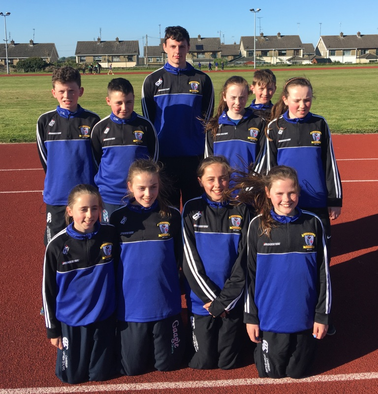 St Peter's AC athletes at Louth Juvenile Championships (Drogheda, May 2017)