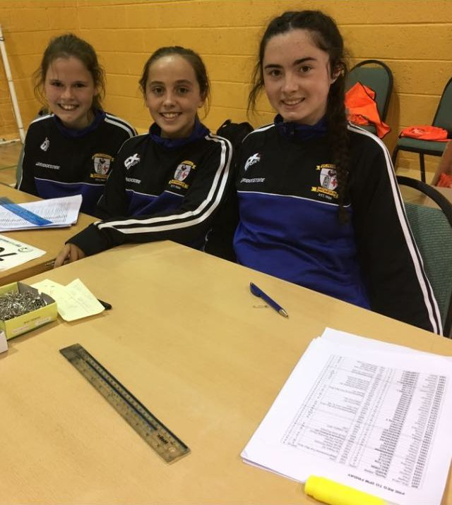 Dromiskin 5K 2017 - Judith Bell, Niamh Brady and Ava Brennan hard at work
