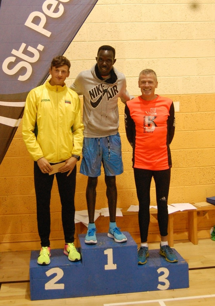 Valdas Dopolskas, Freddy Keron Sittuk and Shane Healy, Dromiskin 5K 2017 men's top 3
