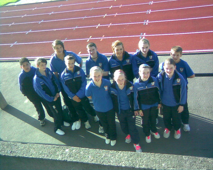 St Peter's AC athletes at Pitreavie AAC Trophy Meet (Dunfermline, September 2009)