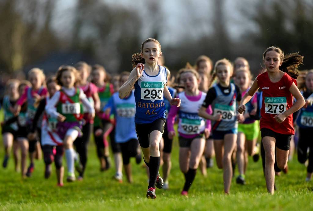 Niamh Brady (279) at Irish Cross Country Championships (Dungarvan, December 2015)