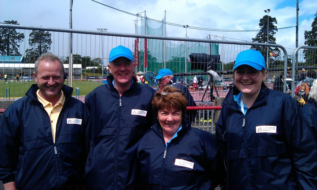 Paddy Bell, Brendan Rogers, Kathleen McConnell and Frances Rogers at European Team Championships 1st League (Santry, June 2013)