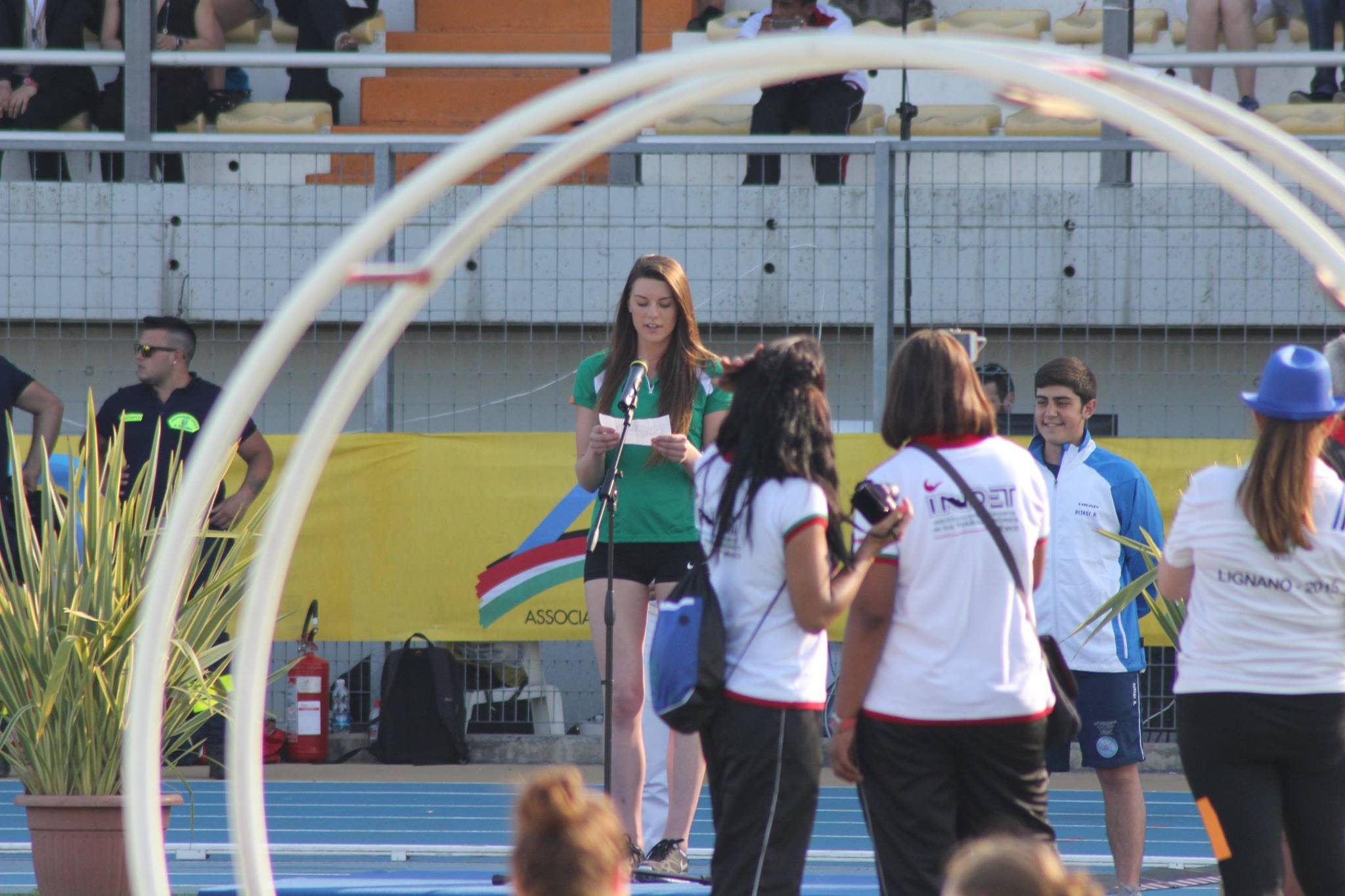Emily Rogers reading Oath at CSIT World Sports Games Opening Ceremony (Italy, June 2015)