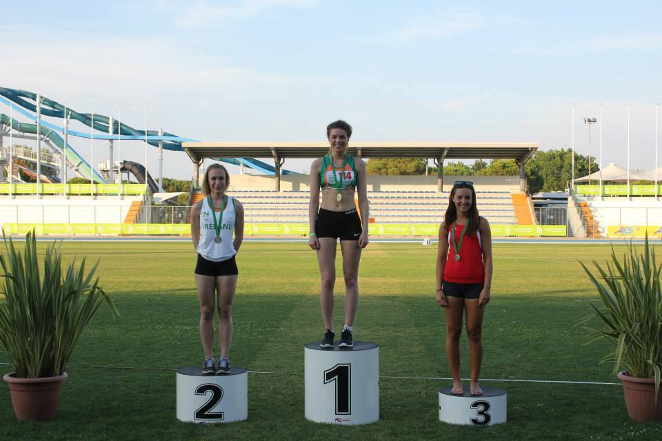 Emily Rogers (High Jump winner) at CSIT World Sports Games (Italy, June 2015)