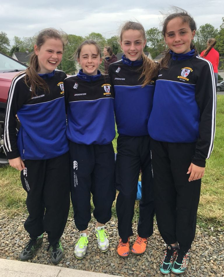 St Peter's AC athletes at Leinster Relay Championships (Enniscorthy, May 2018)