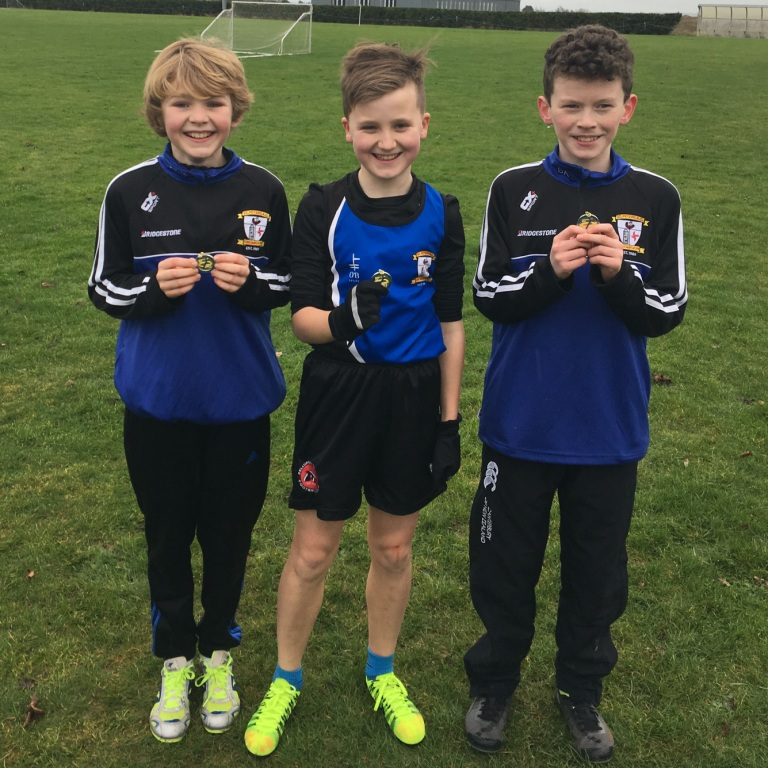 U13 Boys' team at Blackrock AC Cross Country (Haggardstown, January 2017)