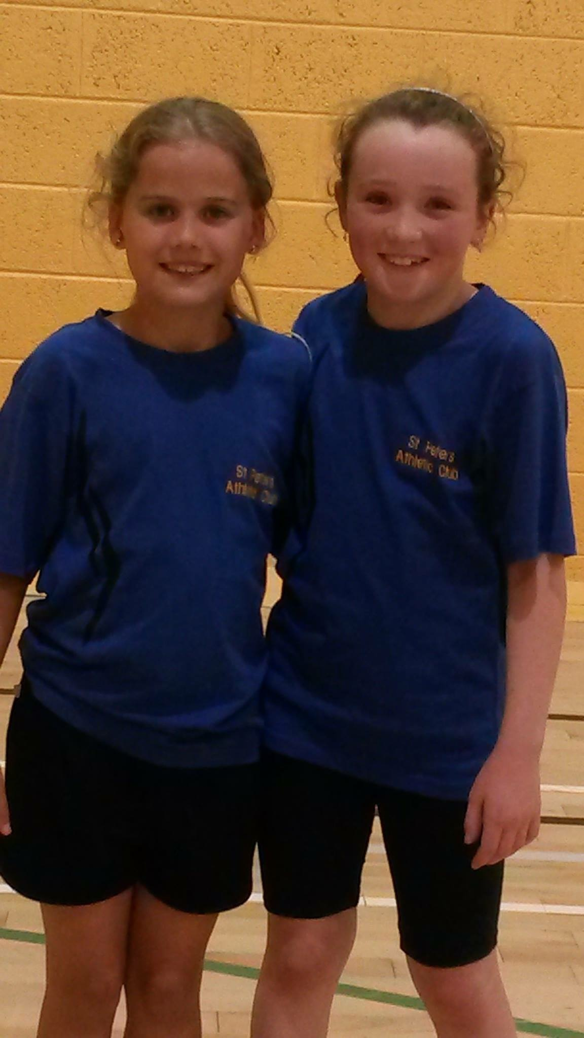 Isibeal Fitzpatrick and Katie Mulligan at Irish Childrens' Games (Tullamore, June 2015)