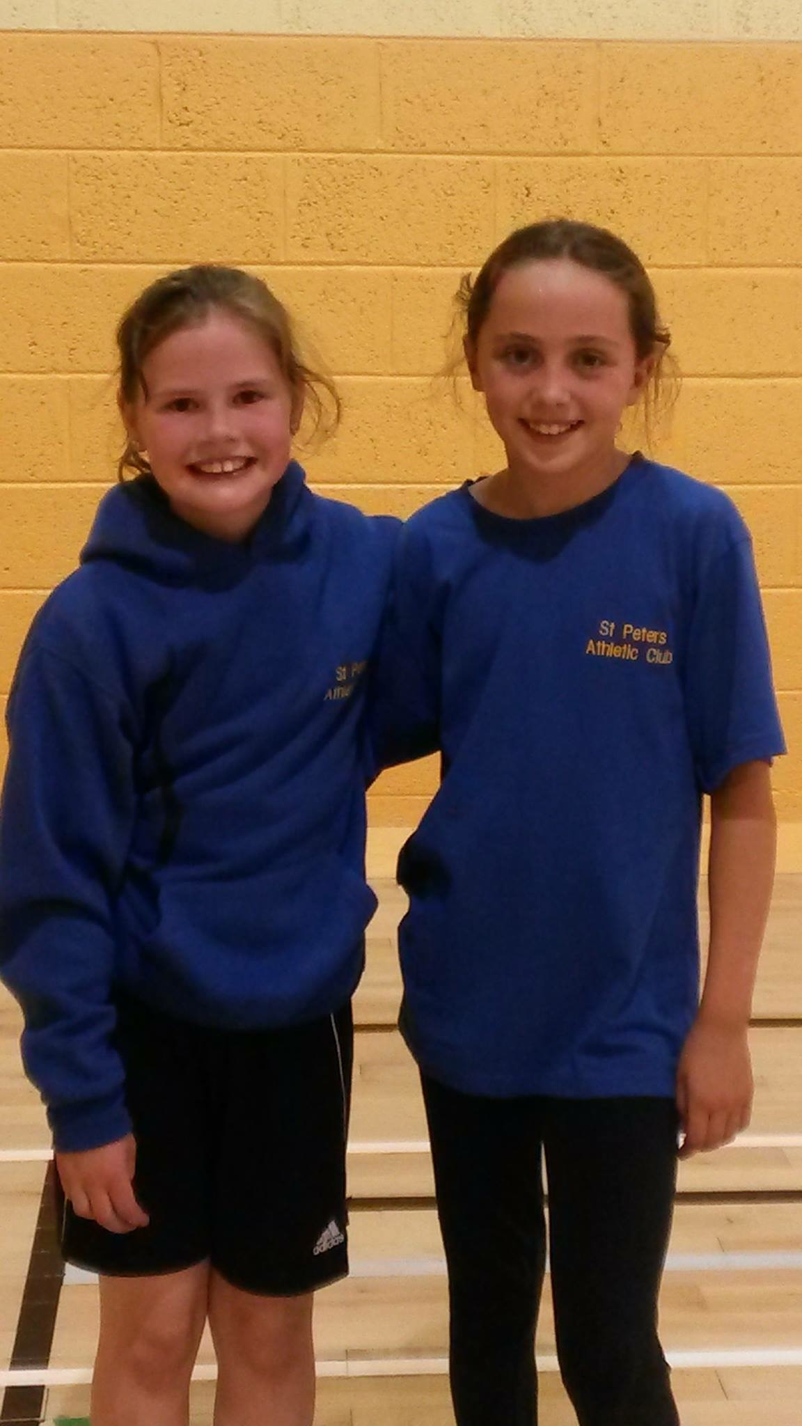 Judith Bell and Niamh Brady at Irish Childrens' Games (Tullamore, June 2015)