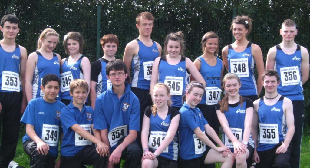 St Peter's AC athletes at Southport Waterloo AC Open Meet (Liverpool, September 2010)