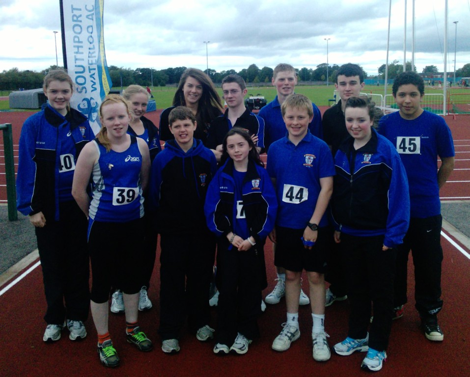 St Peter's AC athletes at Southport Waterloo AC Open Meet (Liverpool, August 2011)