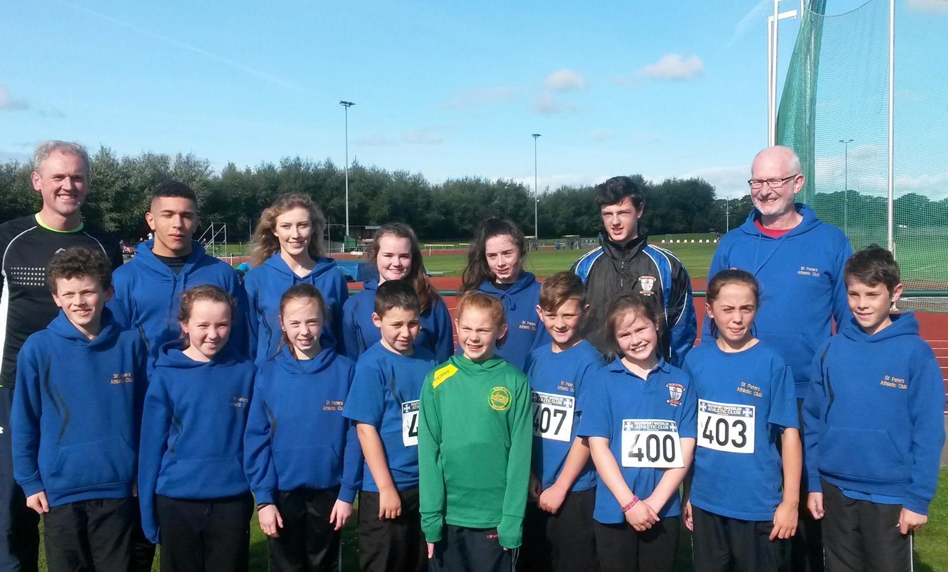 County Louth athletes at Southport Waterloo AC Open Meet (Liverpool, September 2015)