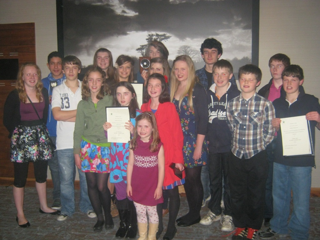 St Peter's AC athletes at Athletics Louth Awards Night (Dundalk, November 2011)