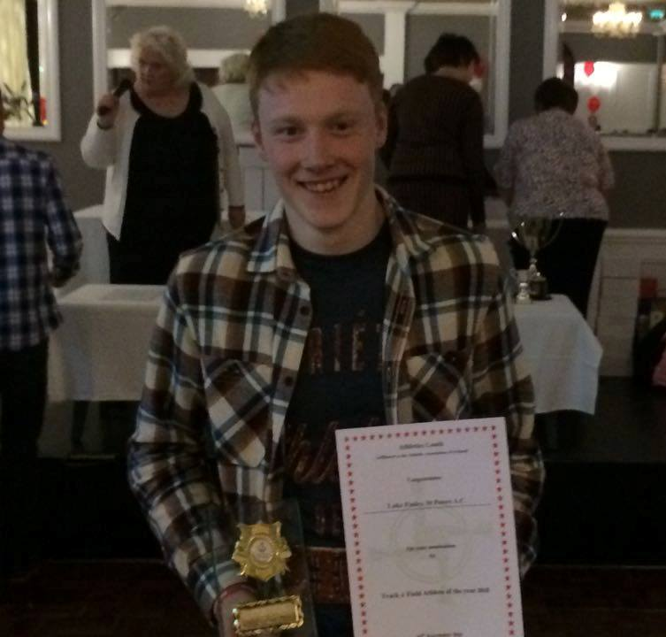 Luke Finley at Athletics Louth Awards Night (Drogheda, November 2015)