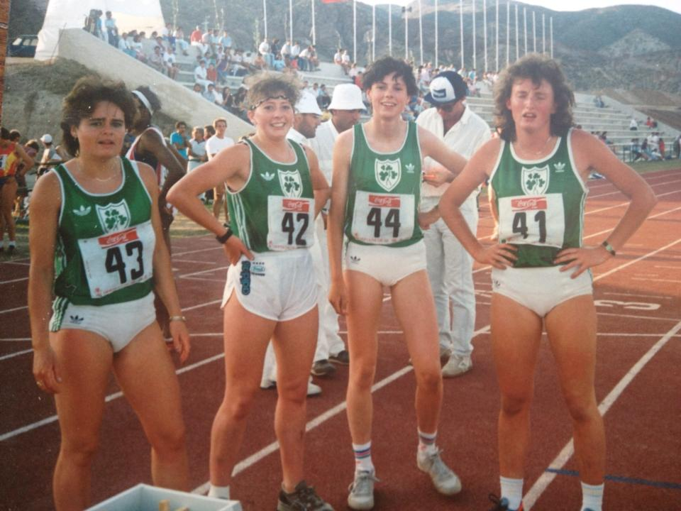 Maria Mackin (no 43) at International Heptathlon (ESP v GBR v IRL v ITA) (Spain, June 1988)