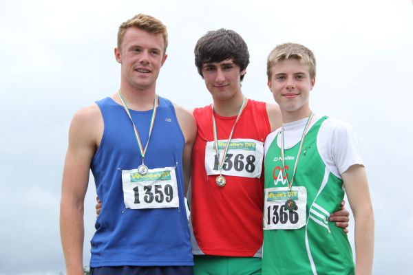 Mark Rogers (on the left) at Irish Combined Events' Championships (Tullamore, August 2013)