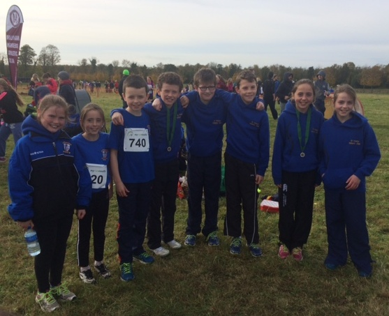 St Peter's AC athletes at Leinster Cross Country Championships (Moyvalley, October 2015)