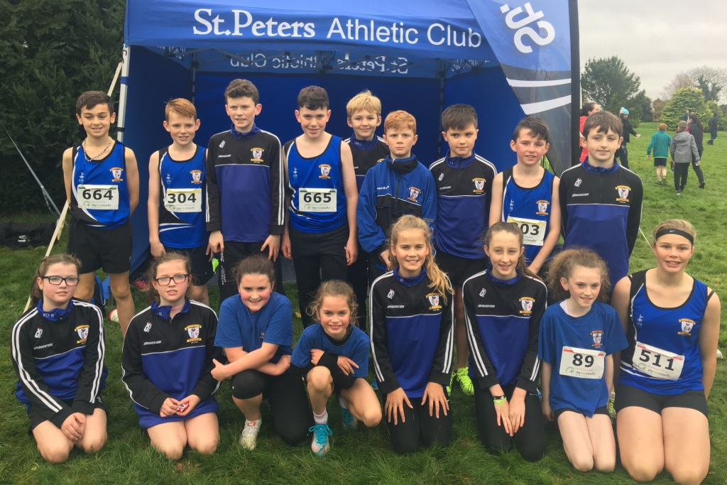 St Peter's AC athletes at Leinster Cross Country Championships (Navan, October 2017)