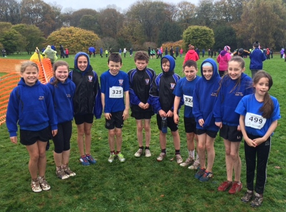 St Peter's AC athletes at Leinster Cross Country Championships (New Ross, November 2015)