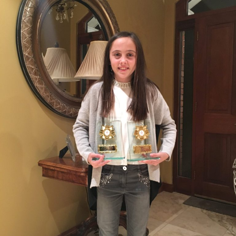 Niamh Brady at Athletics Louth Awards Night (Drogheda, November 2015)
