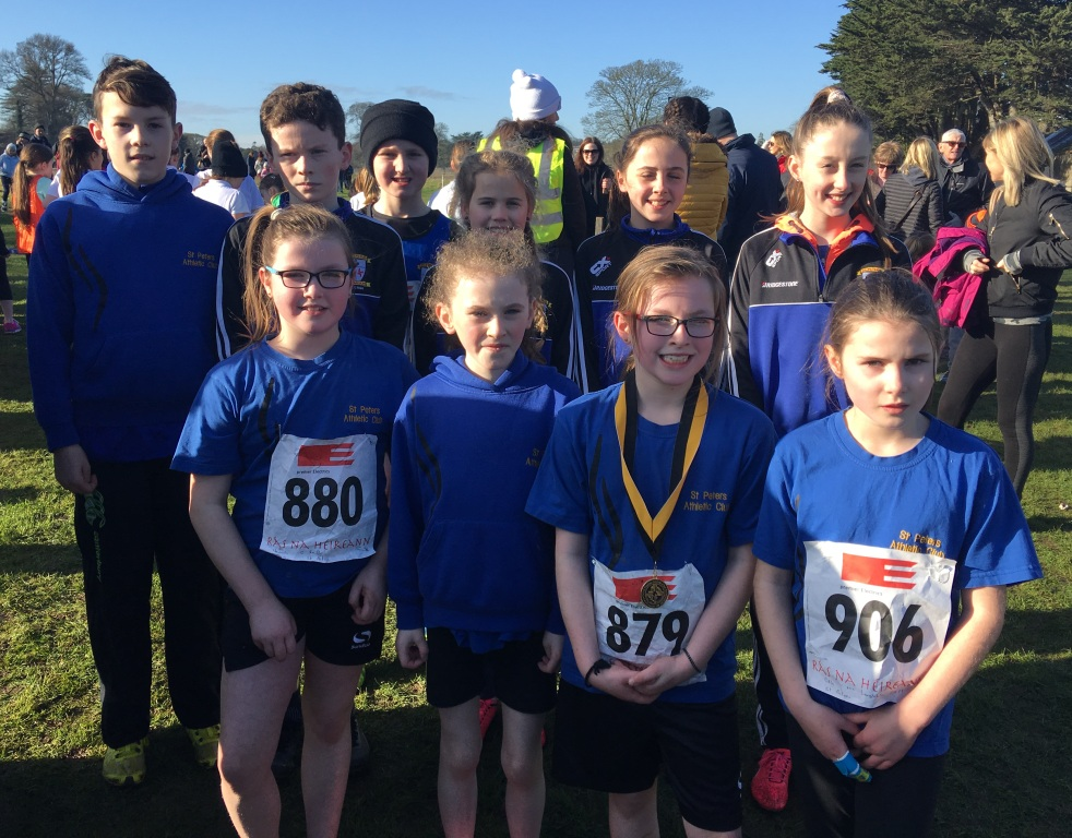 St Peter's AC athletes at Rás na hÉireann Cross Country (Oldbridge, February 2017)