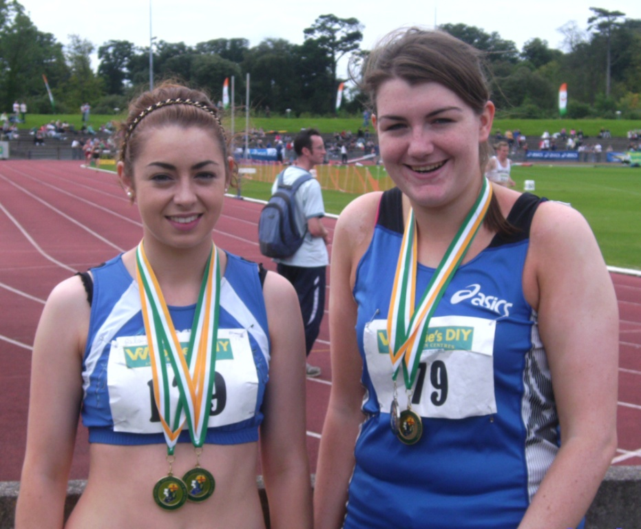 Olivia McDonald and Frances Rogers at Irish Senior Championships (Santry, August 2009)