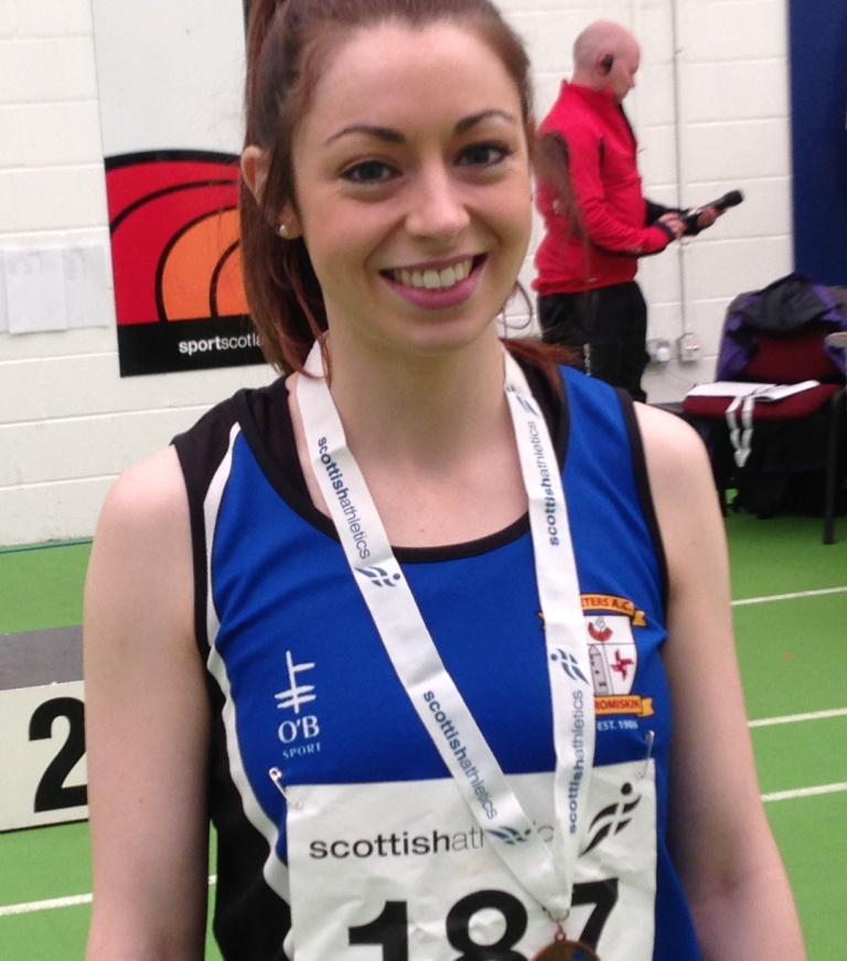 Olivia McDonald at Scottish Senior Championships (Kilmarnock, August 2014)