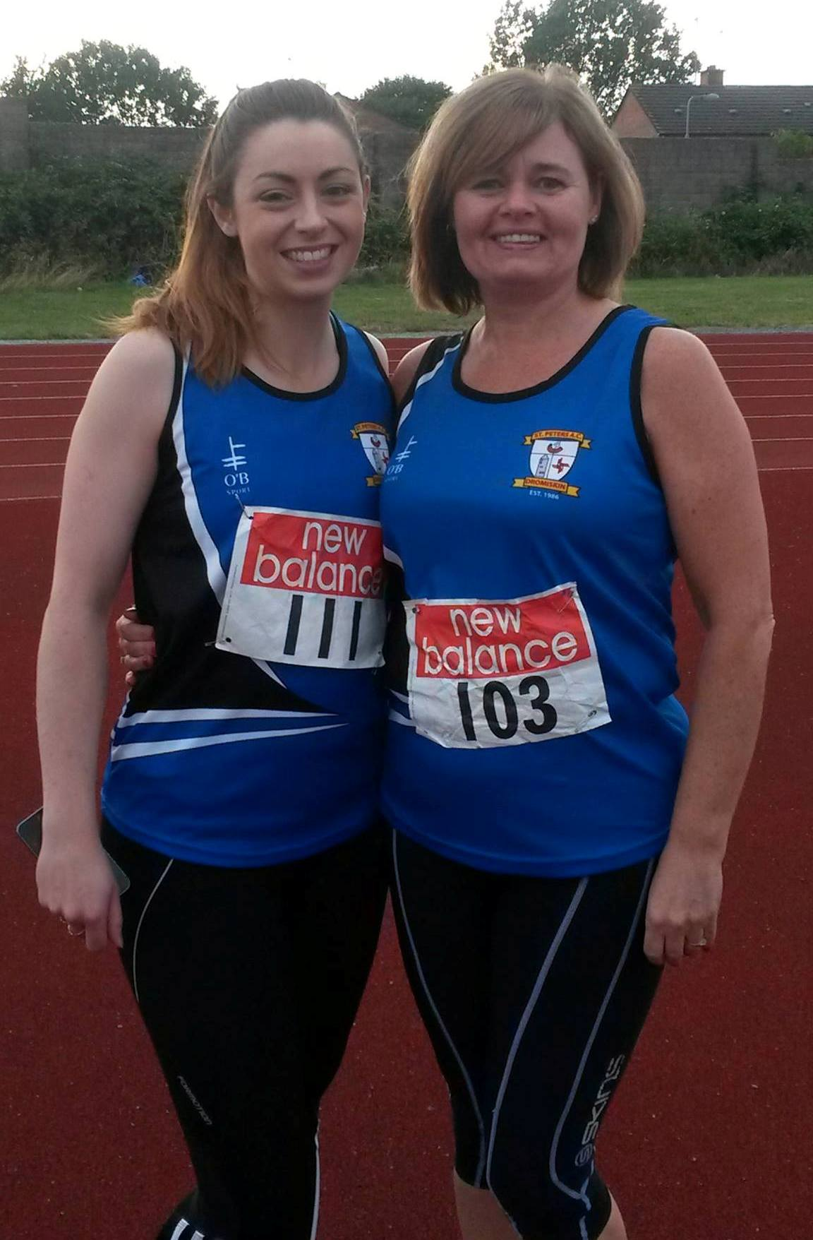 Olivia McDonald and Maria Duffy at Louth Junior, Senior & Masters' Championships (Drogheda, July 2015)