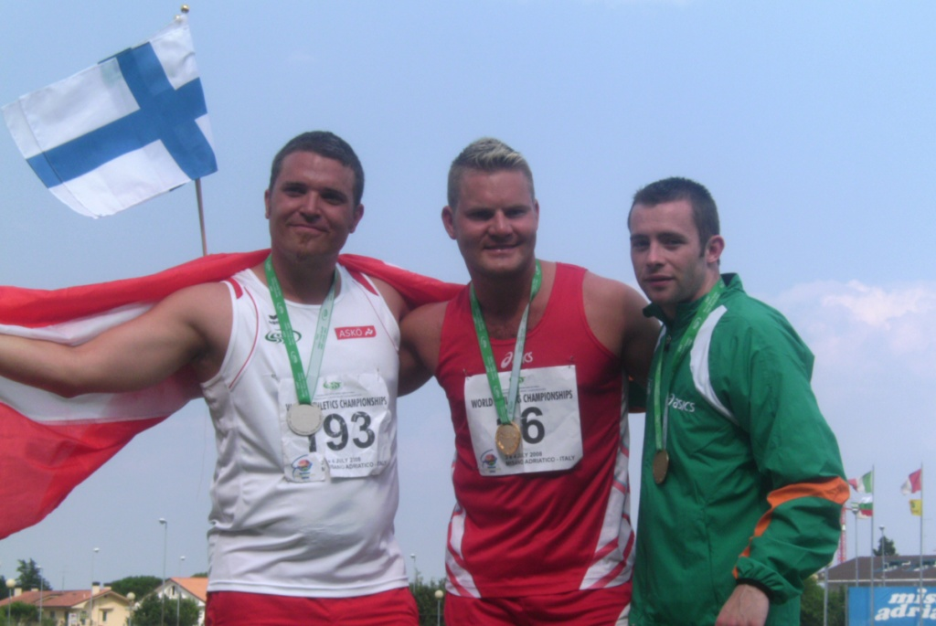 Peter McDonald wins bronze at CSIT World Games (Italy, July 2008)