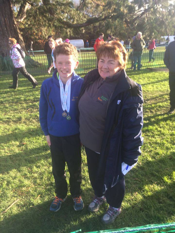 Simon Allen and Kathleen McConnell at Irish Cross Country Championships (Santry, November 2015)