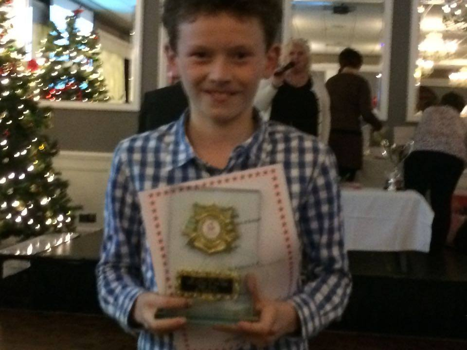 Sean Allen at Athletics Louth Awards Night (Drogheda, November 2015)