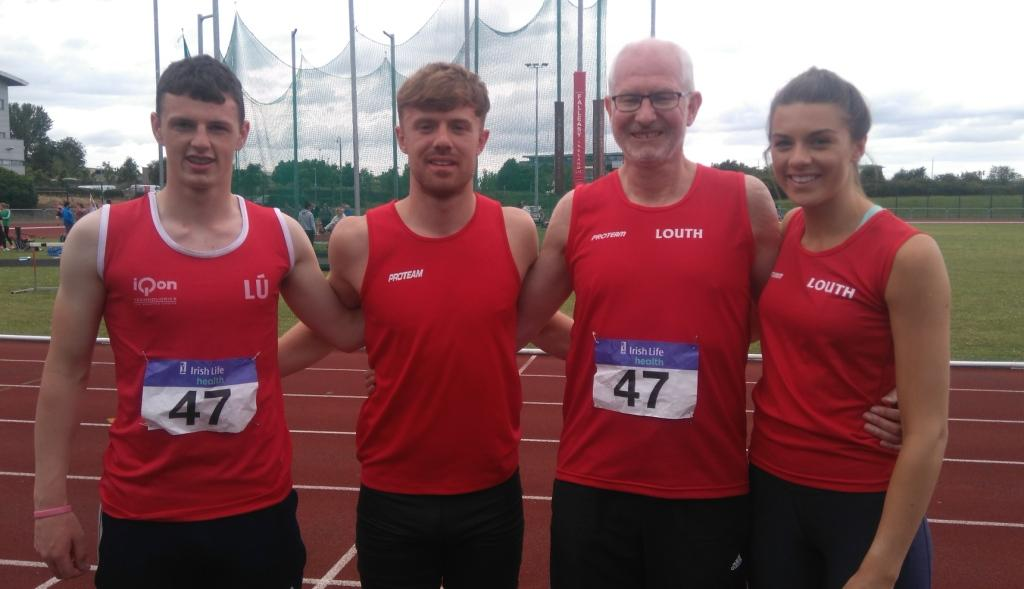St Peter's AC athletes at Irish League 1st round (Tallaght, June 2017)