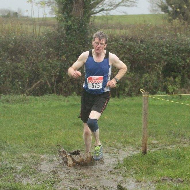 Andrew Rogers at Louth Masters' Cross Country Championships (Togher, November 2015)