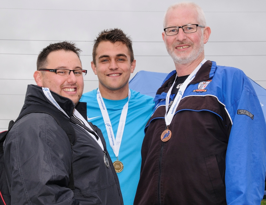 Tom McGrane (on the right) at Scottish Senior Championships (Kilmarnock, August 2014)