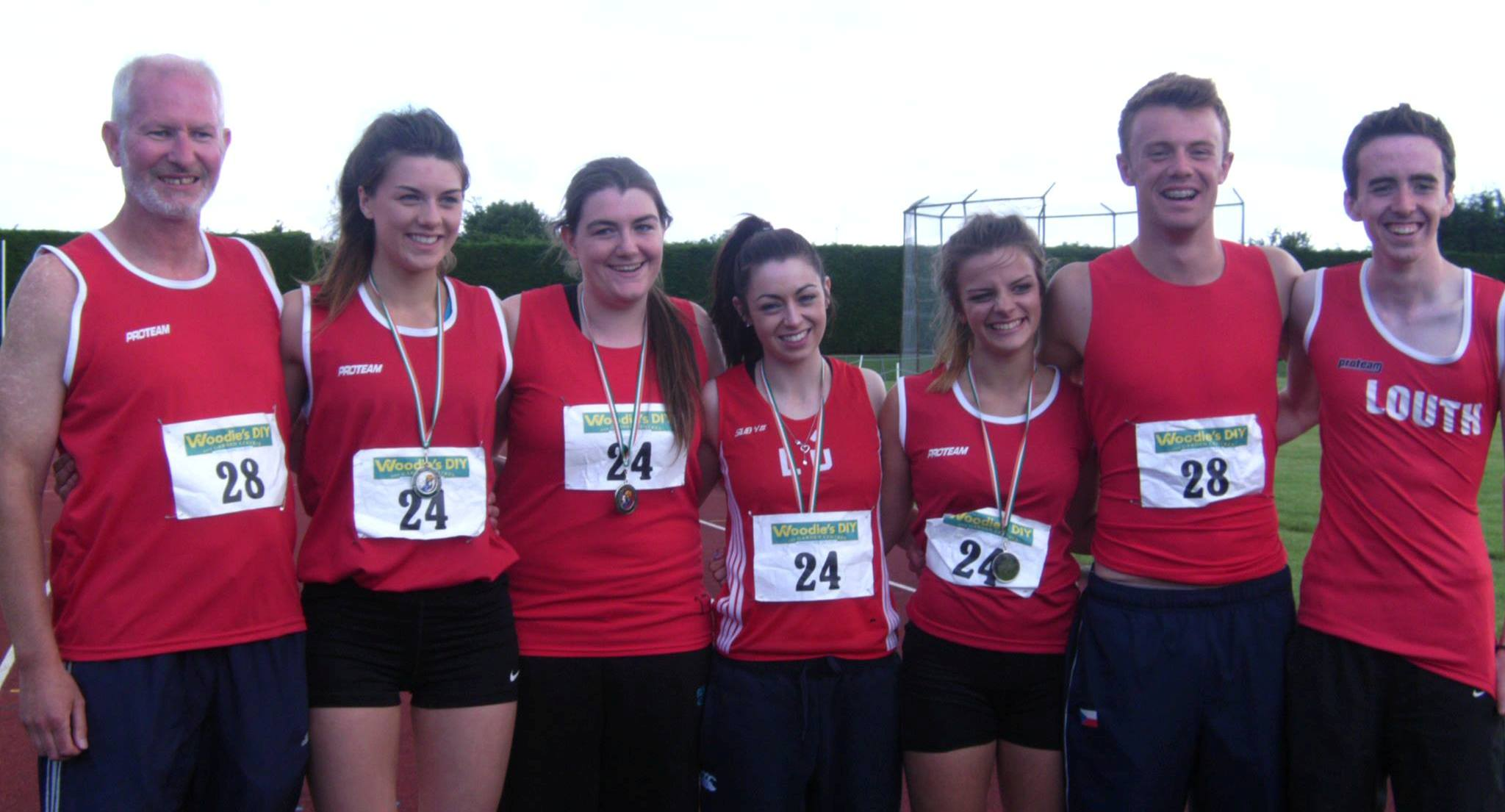 St Peter's AC athletes at Irish League Final (Tullamore, August 2013)