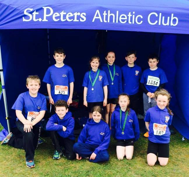 St Peter's AC athletes at Leinster U9 to U13 Championships (Tullamore, June 2015)